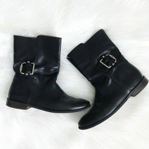 Frye : Black Leather Boots Size 6.5